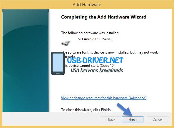 usb driver Completing the add hardware wizard - Winstar W333