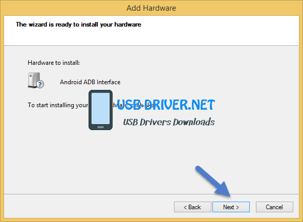 usb driver Hardware To Install Android ADB Interface - Winstar W77