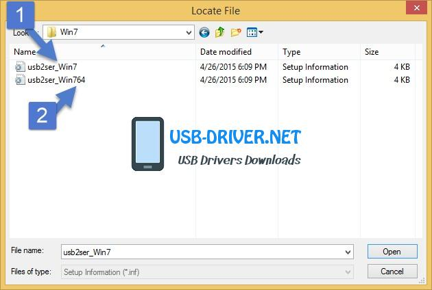 usb driver Setup selection - Archos 55 Cobalt Plus