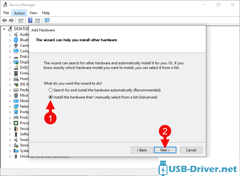 Download Kyocera Echo USB Driver - add hardware manual next