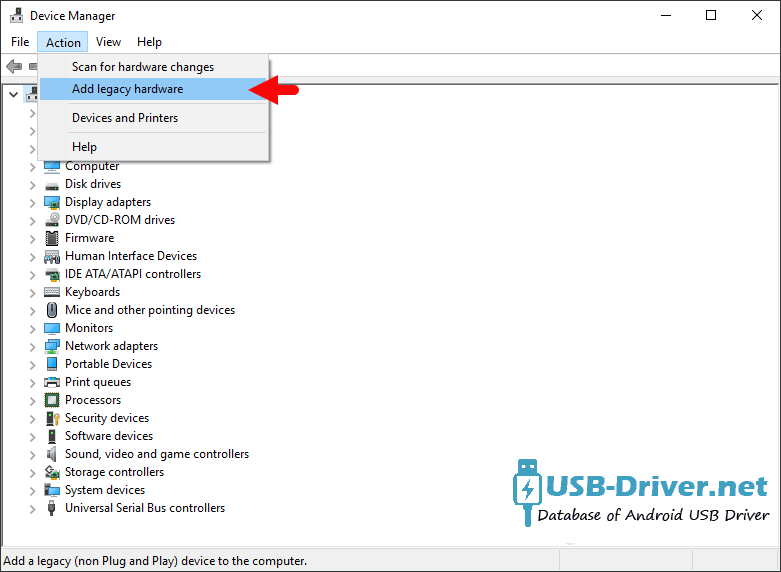 Download Philco TP7A4HA USB Driver - device manager add legacy hardware menu 1